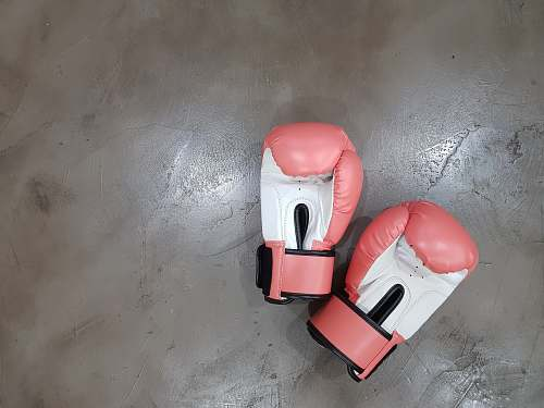 chair pair of pink boxing gloves furniture