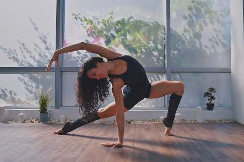 person woman doing yoga human