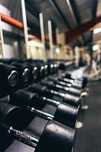 dumbbells dumbbells on floor workout