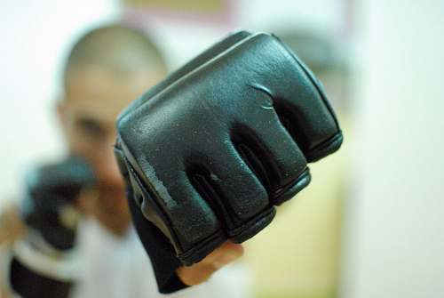 enjoyness fitness club selective focus photo of black gloves via trento