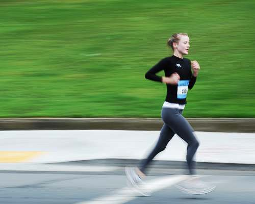 person girl running outdoor during daytime sport