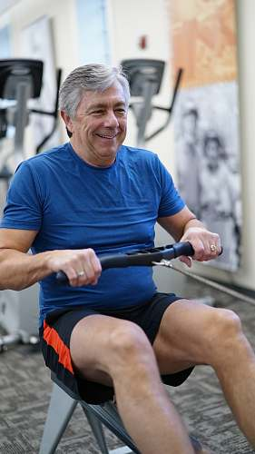 person man exercising while smiling sport