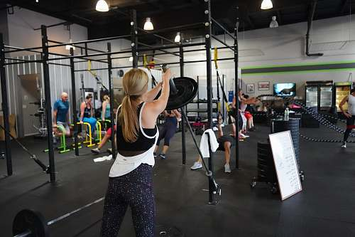 person people doing exercise inside gym fitness