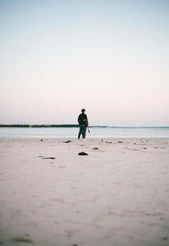 person person standing beside seashore nature