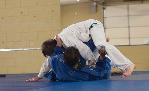 judo photo of two man wearing Taekwondo suit martial arts