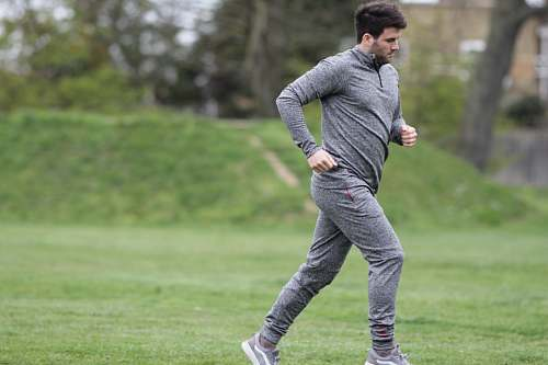 person unknown celebrity running outdoors fitness