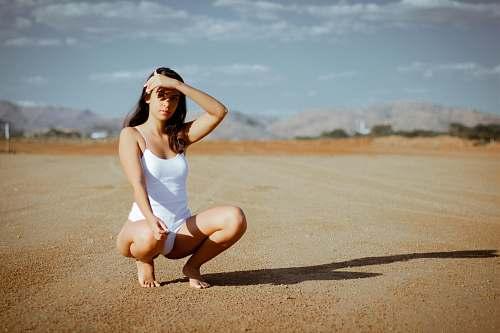 person woman sitting sport