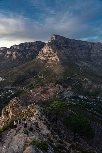 nature high-angle photography of mountain range plateau