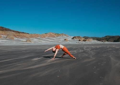 soil woman bending on ground nature