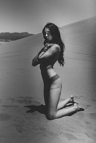 clothing grayscale photo of woman in bikini black-and-white