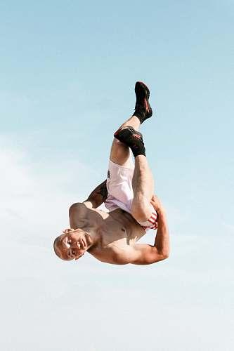 human man back tumbling sport