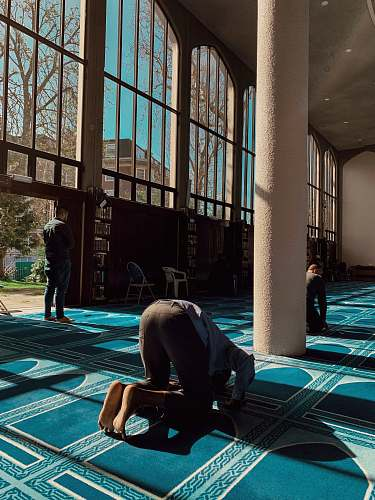 human man inside temple flooring