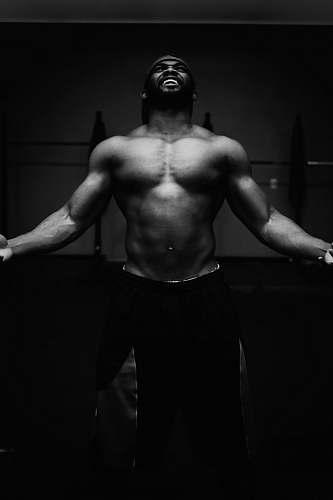 human man wears black bottoms black-and-white