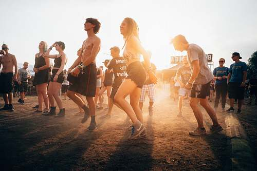 human people dancing during sunset shorts