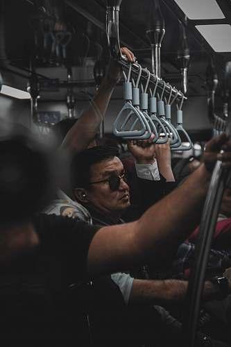 human people in train crowd