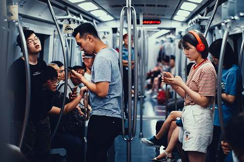human people inside train 人文