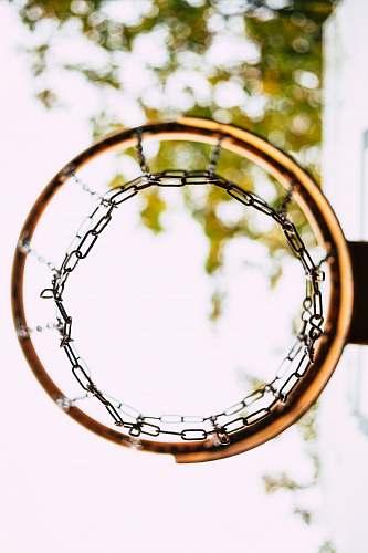 sport worm's eye view of basketball hoop basket