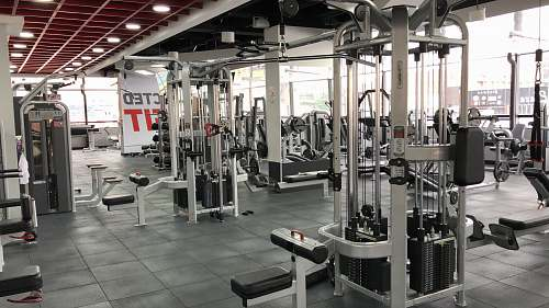 sport interior of gym exercise