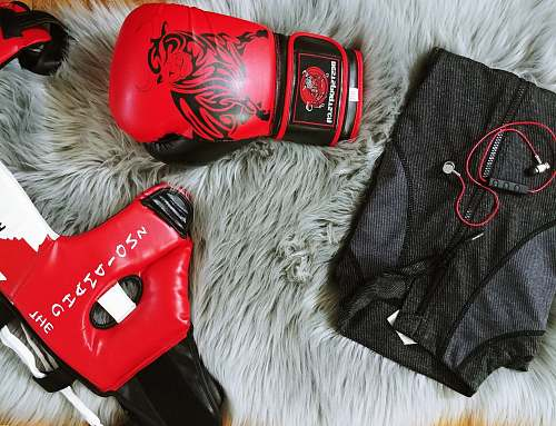 canada training glove, mask, and zip-up jacket boxing
