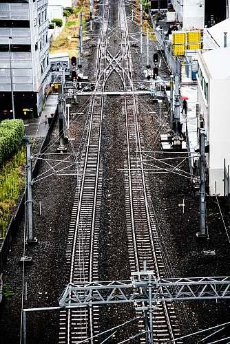railway train railings photography rail